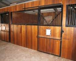 Interior view of our refurbished horse stables.